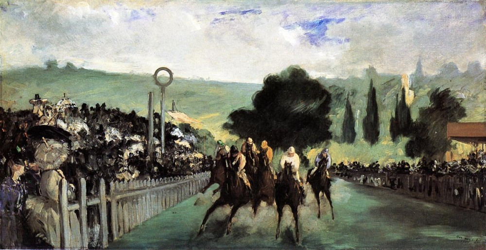 Races at Longchamp by Édouard Manet