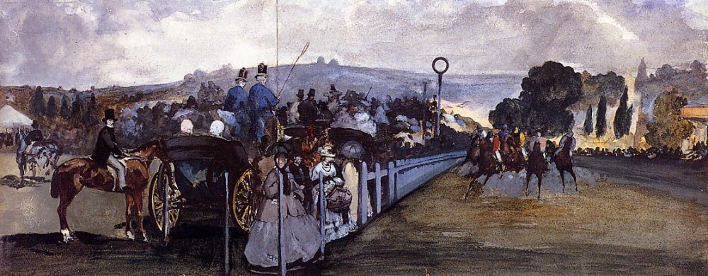 The Races At Longchamp by Édouard Manet