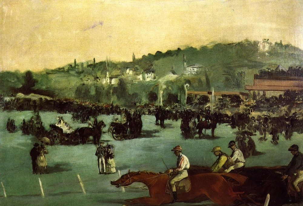 The Races In The Bois De Boulogne by Édouard Manet