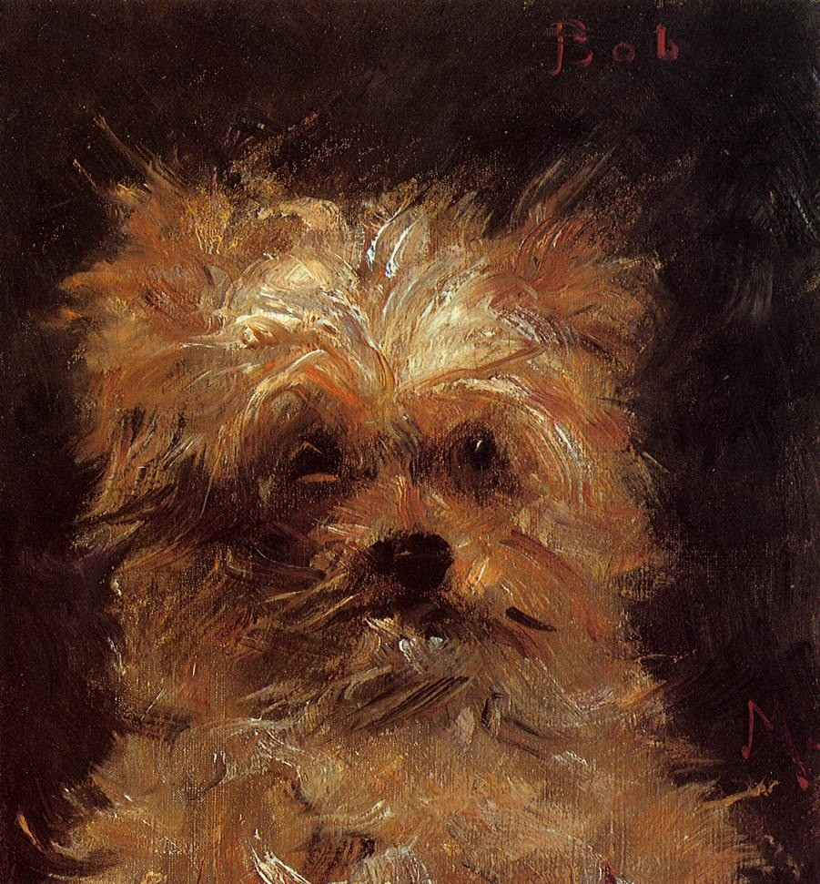 Head Of A Dog by Édouard Manet