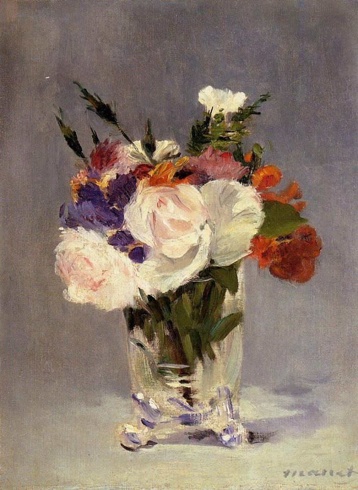 Flowers In A Crystal Vase Ii by Édouard Manet