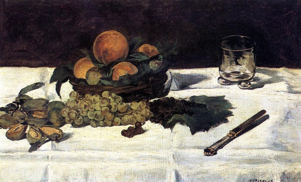 Fruit On A Table by Édouard Manet