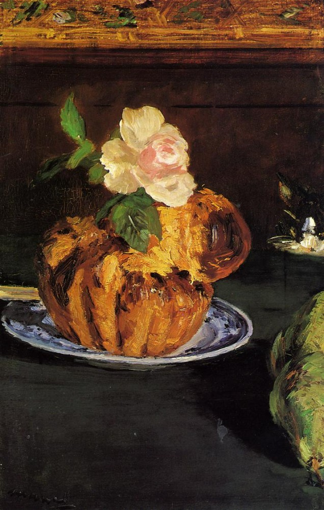 Still Life With Brioche by Édouard Manet