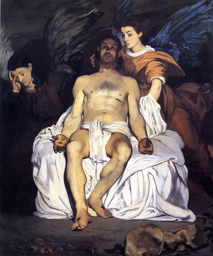 The Dead Christ And The Angels by Édouard Manet