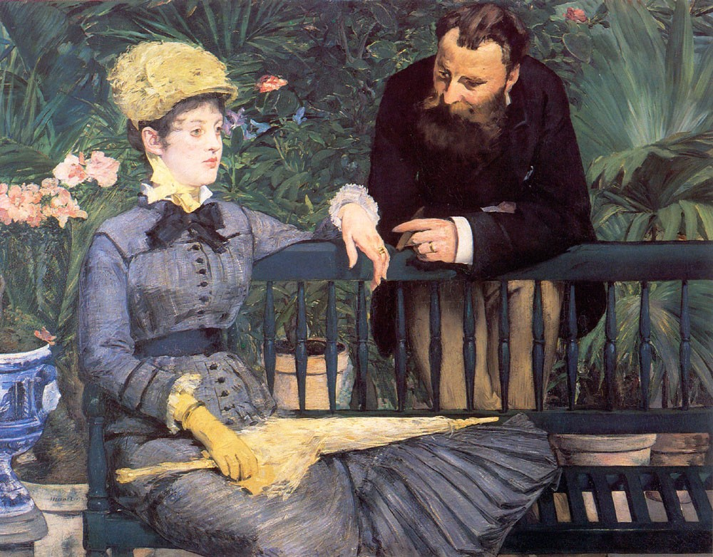 In the Conservatory by Édouard Manet