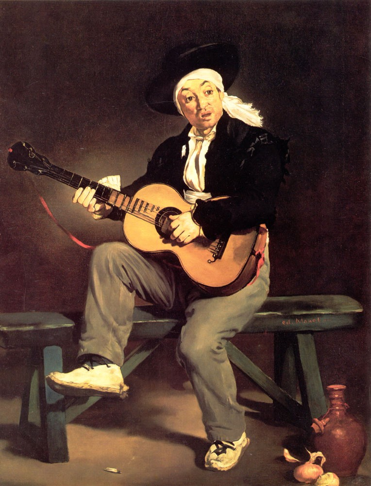 The Spanish Singer The Guitar Player by Édouard Manet