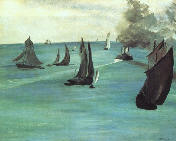 The Beach at Sainte Adresse by Édouard Manet
