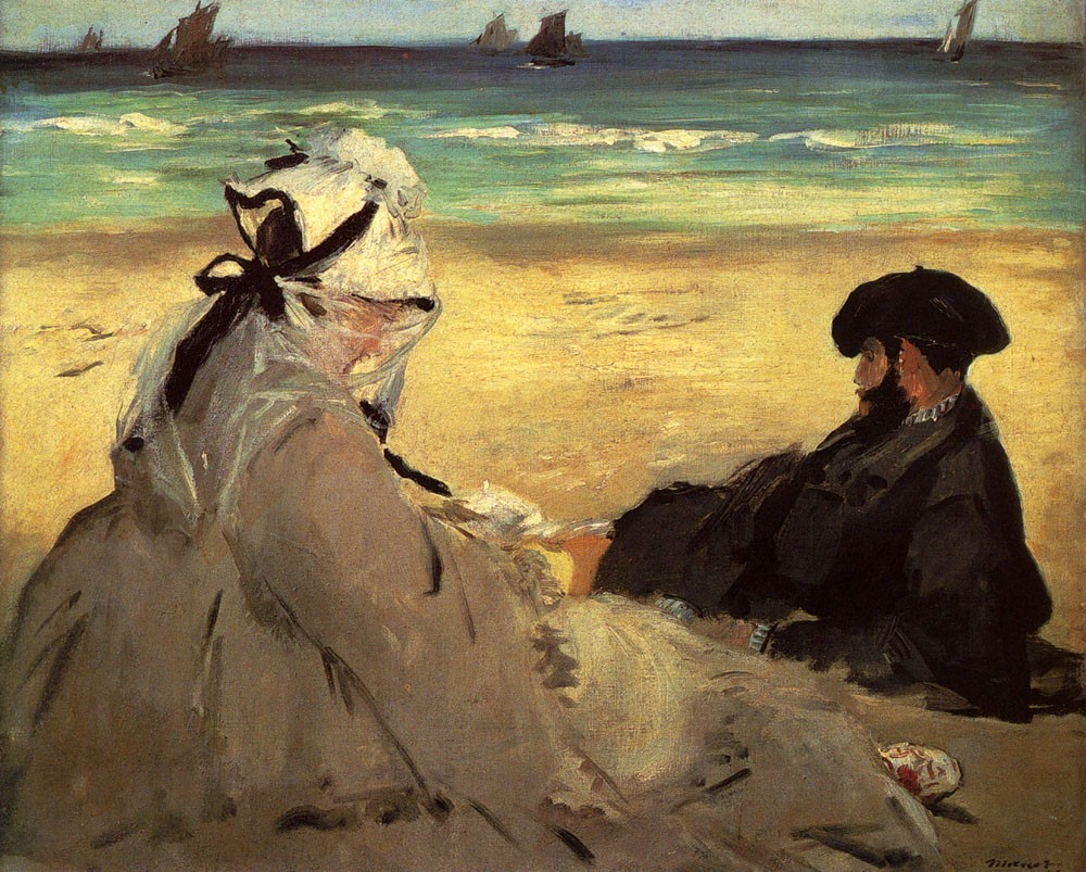 On The Beach by Édouard Manet