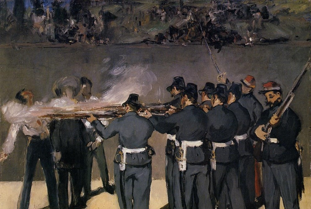The Execution Of The Emperor Maximilian by Édouard Manet