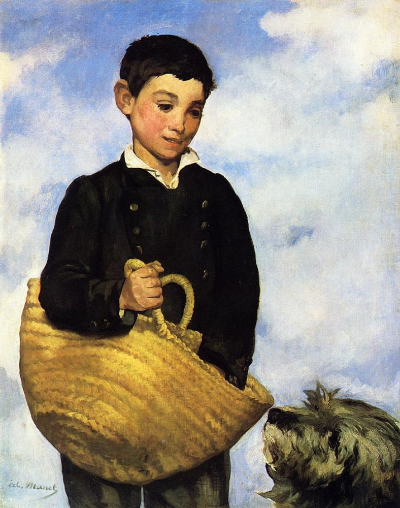 Boy with Dog by Édouard Manet