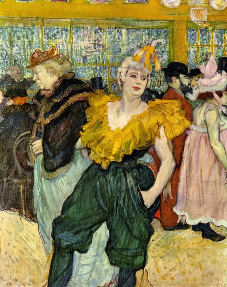 At The Moulin Rouge The Clowness Cha U Kao by Henri de Toulouse-Lautrec