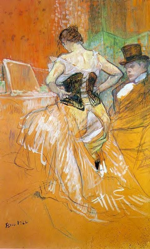 Elles Woman In A Corset by Henri de Toulouse-Lautrec