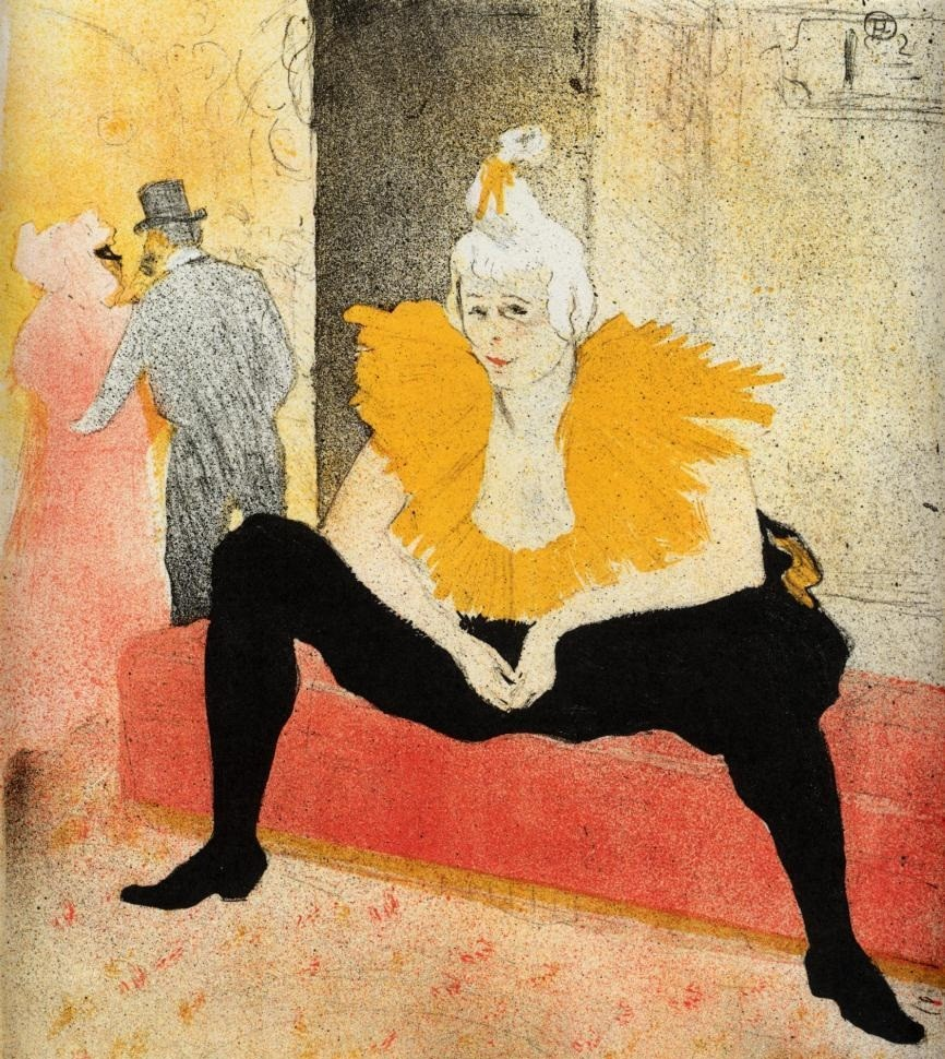 Elles Cha U Kao Chinese Clown Seated by Henri de Toulouse-Lautrec