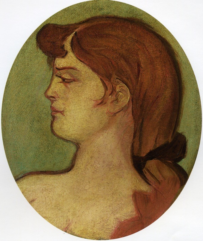 Portrait Of A Woman Of The House On The Rue D'amboise by Henri de Toulouse-Lautrec