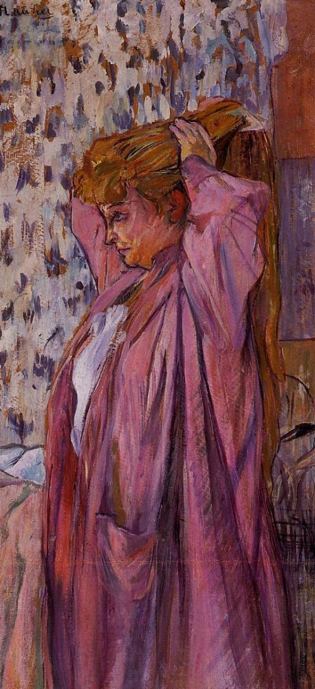 The Madame Redoing Her Bun by Henri de Toulouse-Lautrec