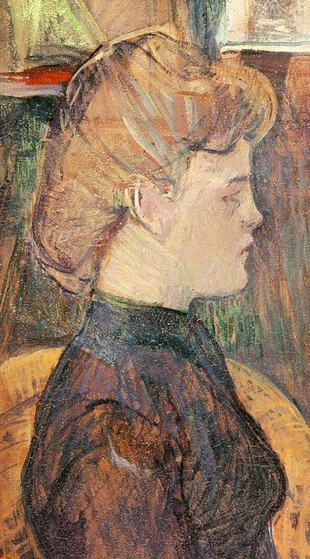 The Painters Model Helene Vary In The Studio by Henri de Toulouse-Lautrec