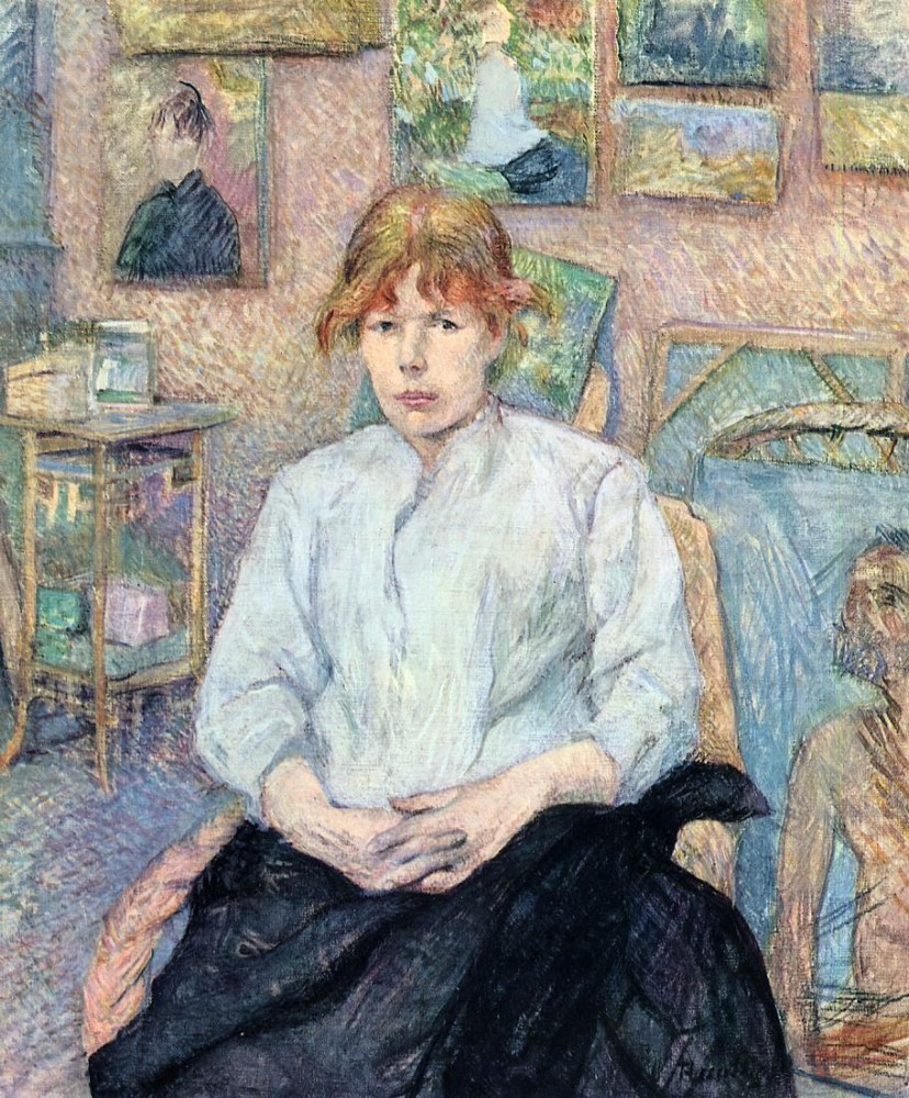 The Redhead With A White Blouse by Henri de Toulouse-Lautrec
