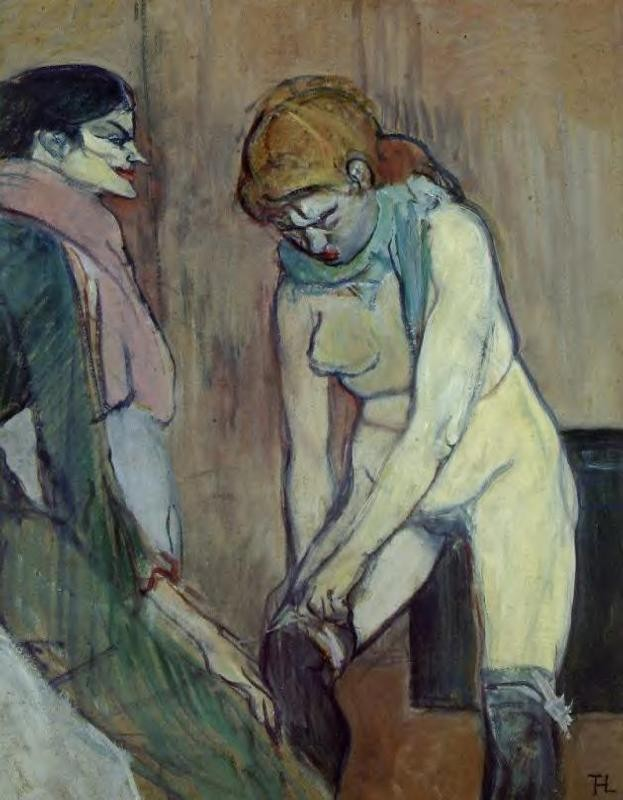 Woman Pulling Up Her Stockings by Henri de Toulouse-Lautrec