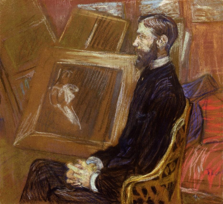 Portrait Of Georges Henri Manuel by Henri de Toulouse-Lautrec
