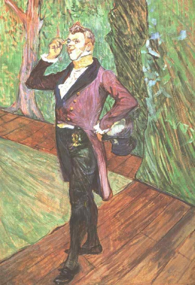 Portrait Of M Samary by Henri de Toulouse-Lautrec