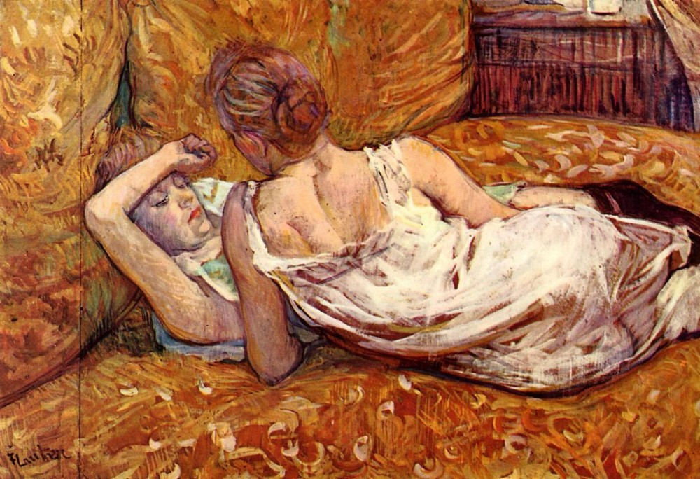 Devotion The Two Girlfriends by Henri de Toulouse-Lautrec