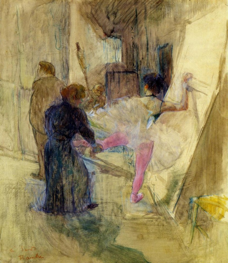 Behind The Scenes by Henri de Toulouse-Lautrec