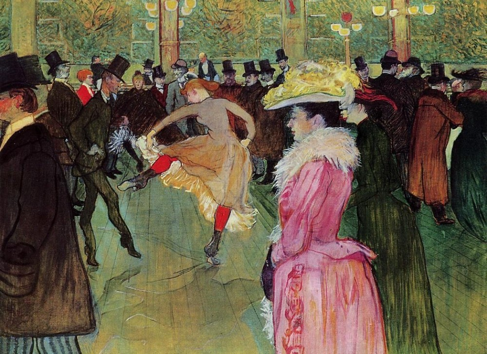 Dance At The Moulin Rouge by Henri de Toulouse-Lautrec