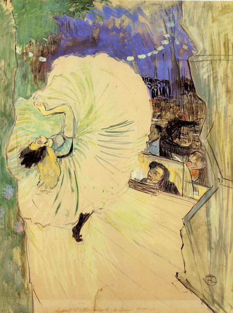 The Cartwheel by Henri de Toulouse-Lautrec