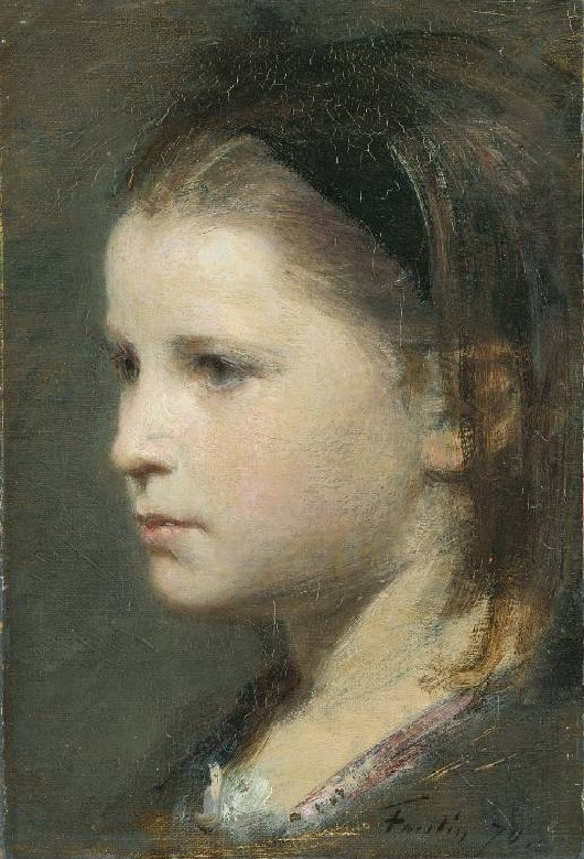 Head of a young girl by Henri Fantin-Latour