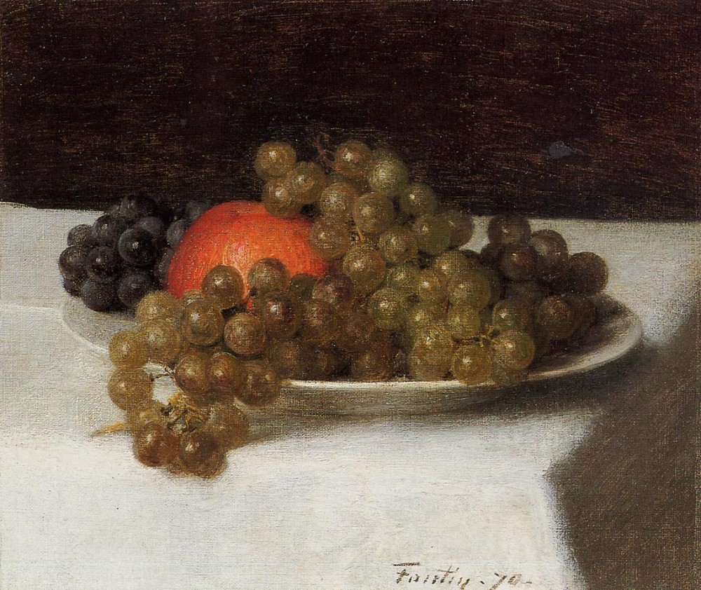 Apples and Grapes by Henri Fantin-Latour