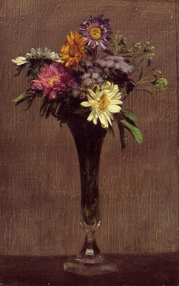 Daisies and Dahlias by Henri Fantin-Latour