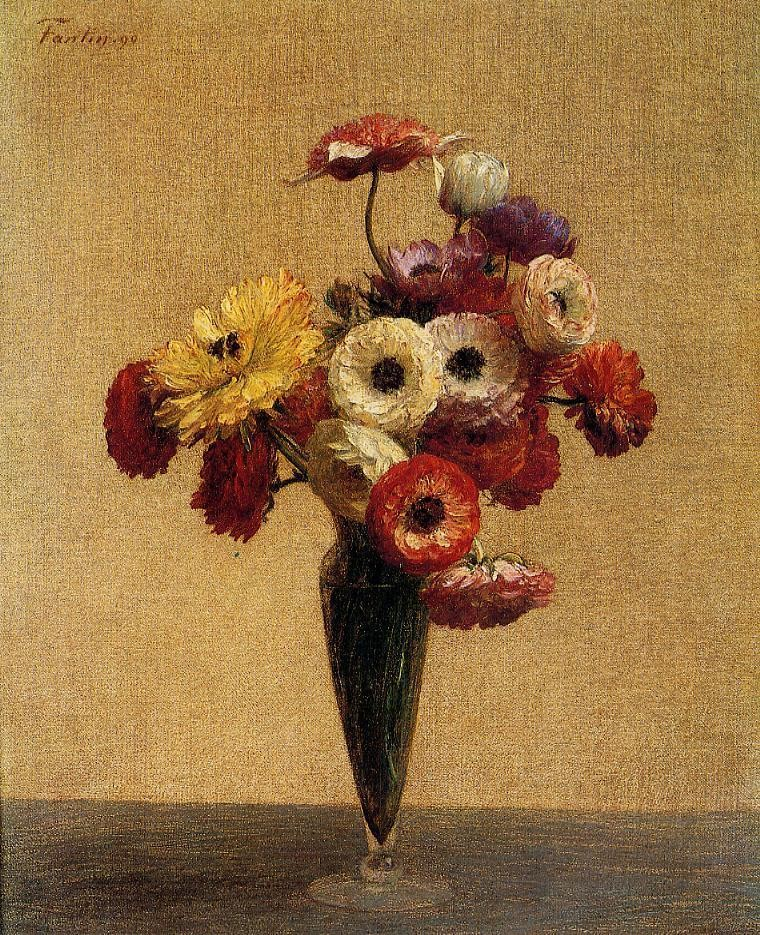 Anemones and Buttercups by Henri Fantin-Latour
