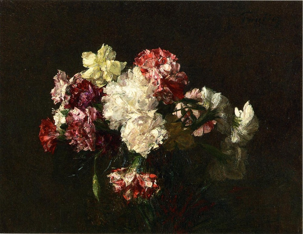 Carnations by Henri Fantin-Latour