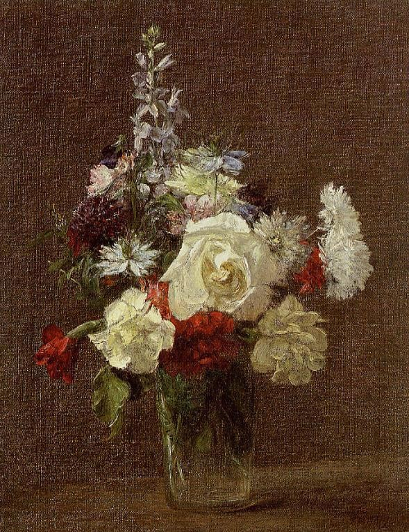 Mixed Flowers by Henri Fantin-Latour