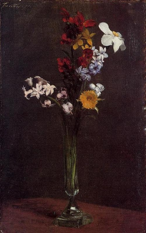 Narcisses Hyacinths and Nasturtiums by Henri Fantin-Latour