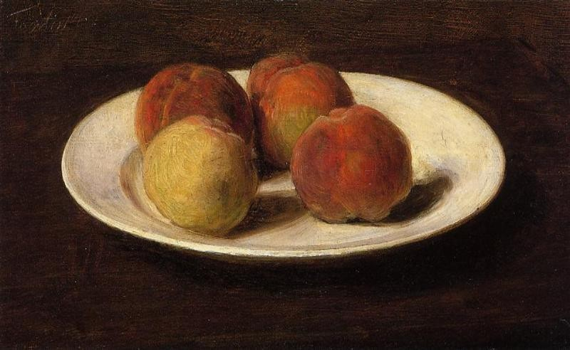 Still Life of Four Peaches by Henri Fantin-Latour