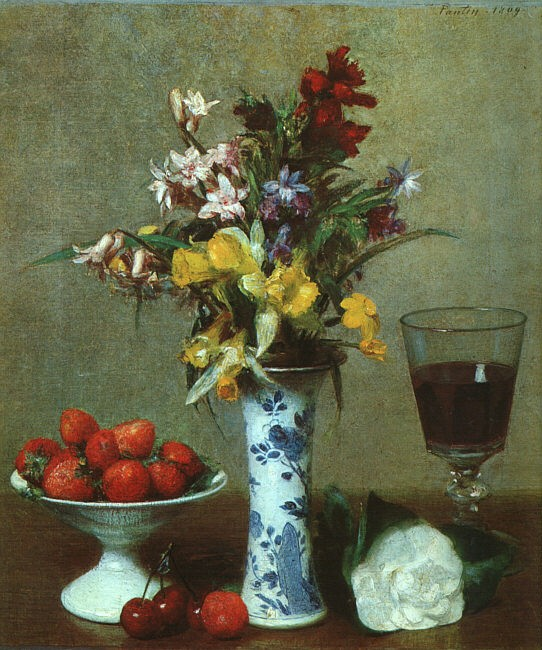 Still Life The Engagement by Henri Fantin-Latour