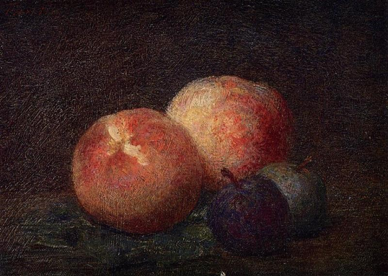 Two Peaches and Two Plums by Henri Fantin-Latour
