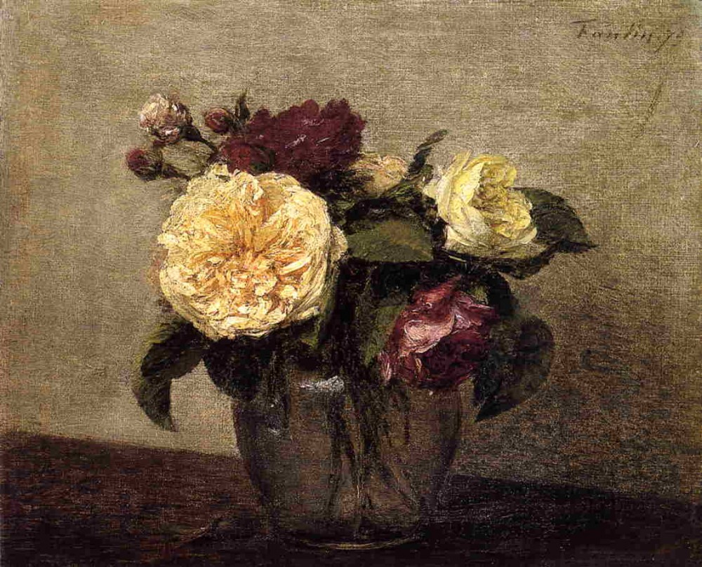 Yellow and Red Roses by Henri Fantin-Latour