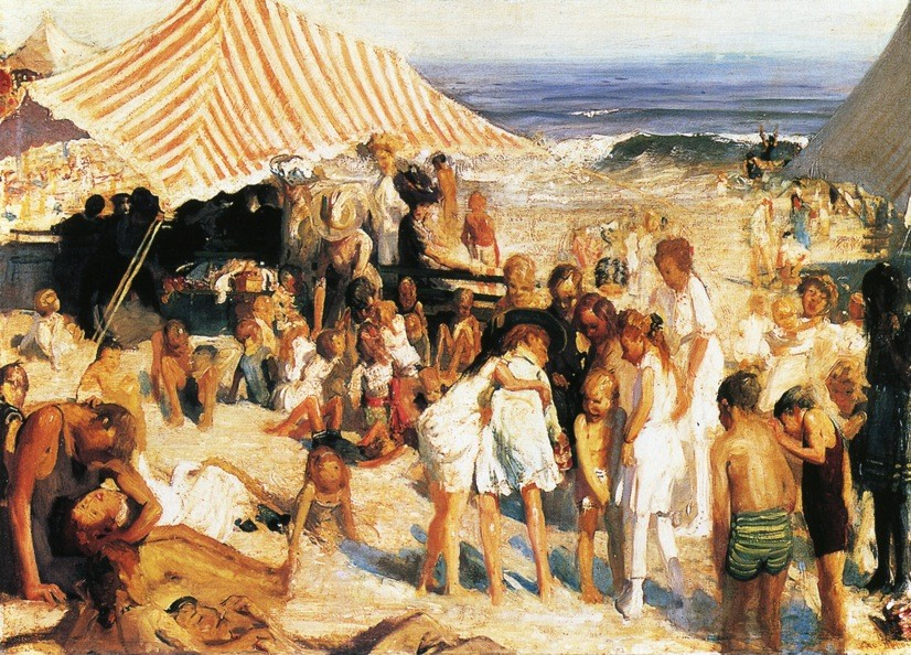 Beach At Coney Island by George Wesley Bellows