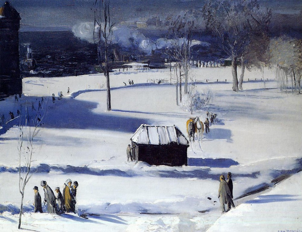 Cattle And Pig Pen by George Wesley Bellows