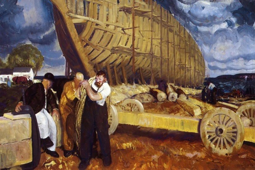 Dock Builders by George Wesley Bellows