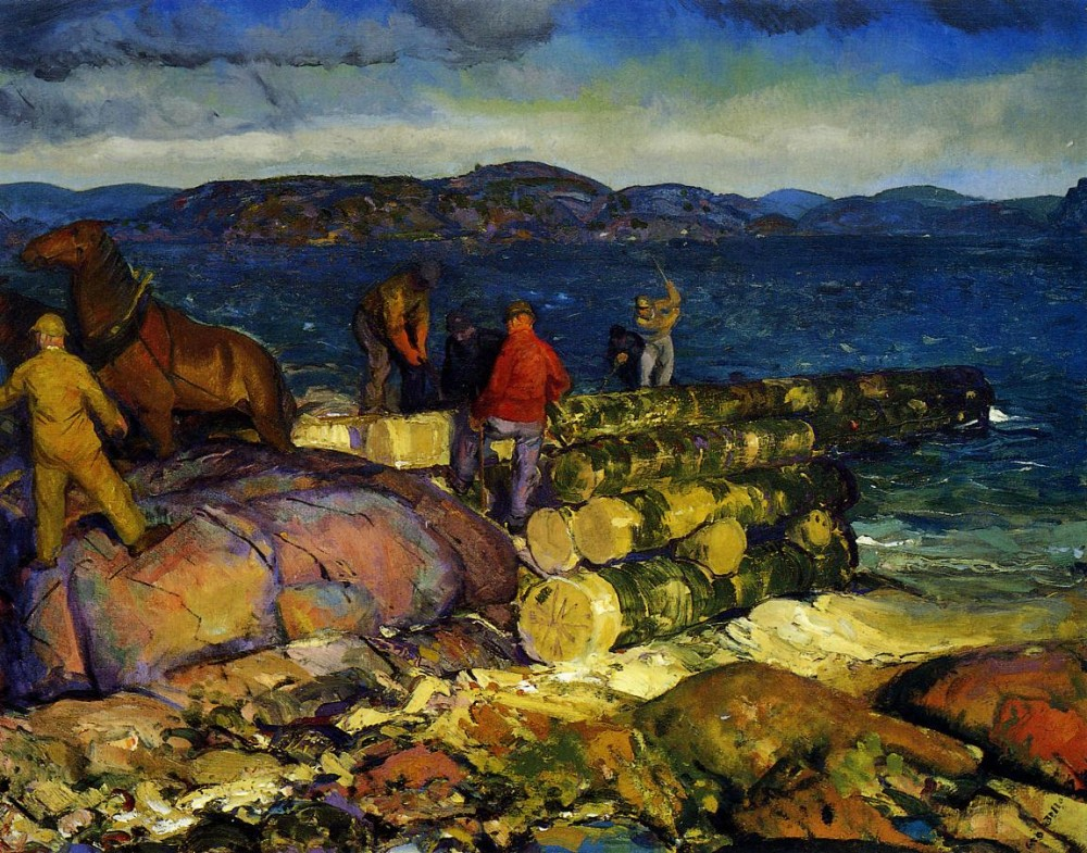 Excavation At Night by George Wesley Bellows