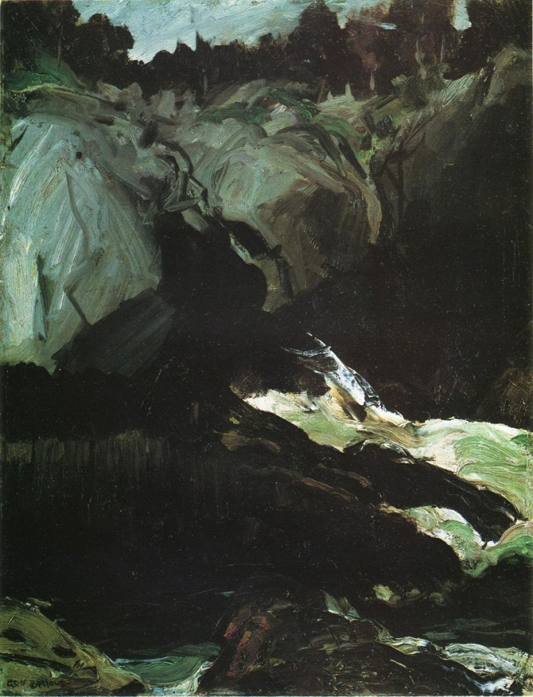 In A Rowboat by George Wesley Bellows