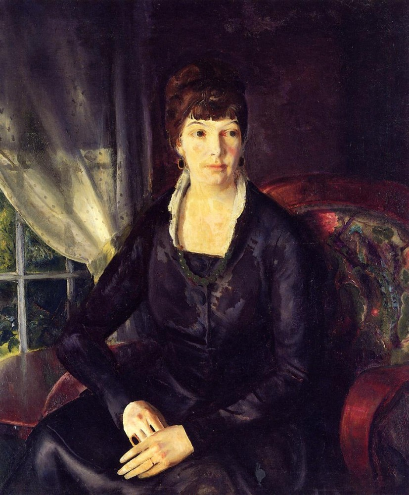 Lady In A Green Dress by George Wesley Bellows