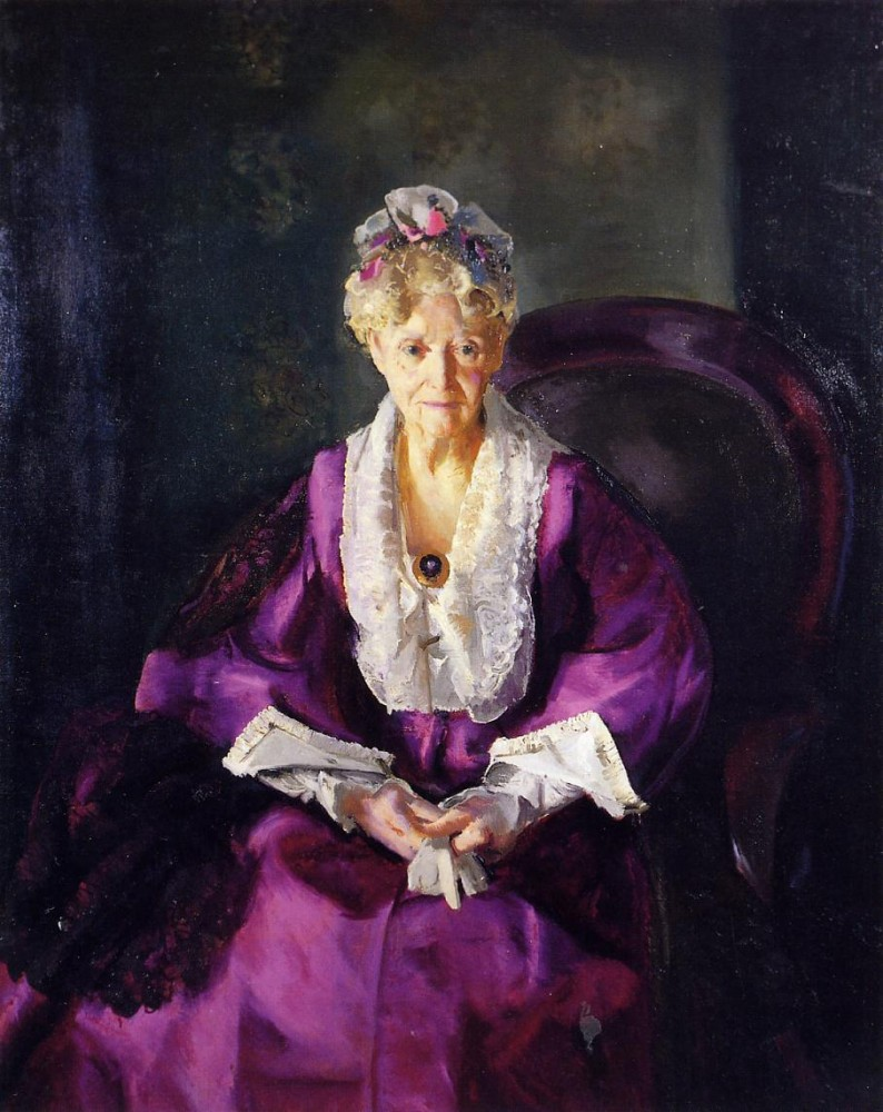 Portrait Of Emme In Night Light by George Wesley Bellows