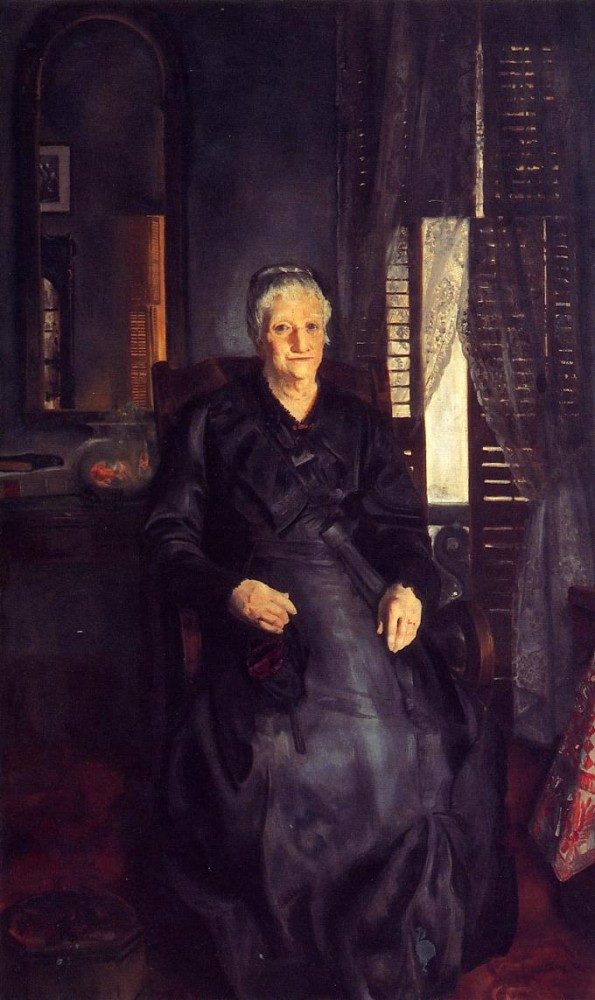 Portrait Of Florence Pierce by George Wesley Bellows