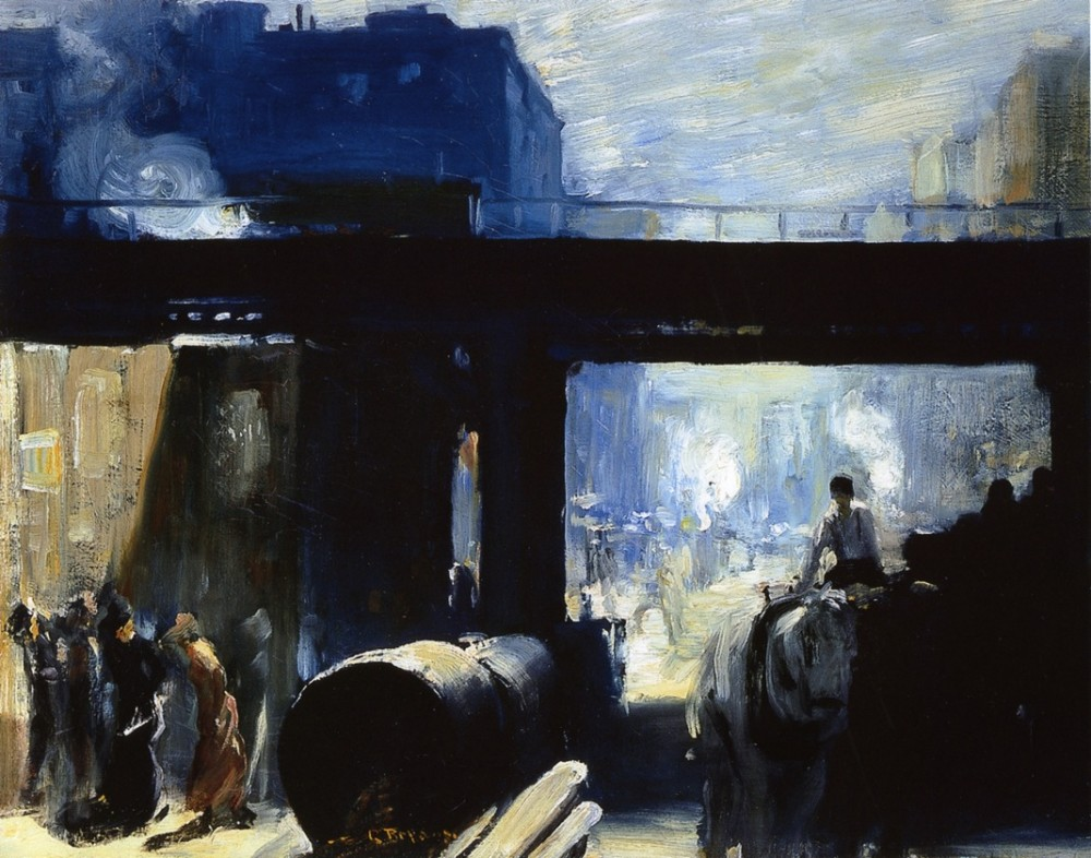Steeming Streets by George Wesley Bellows