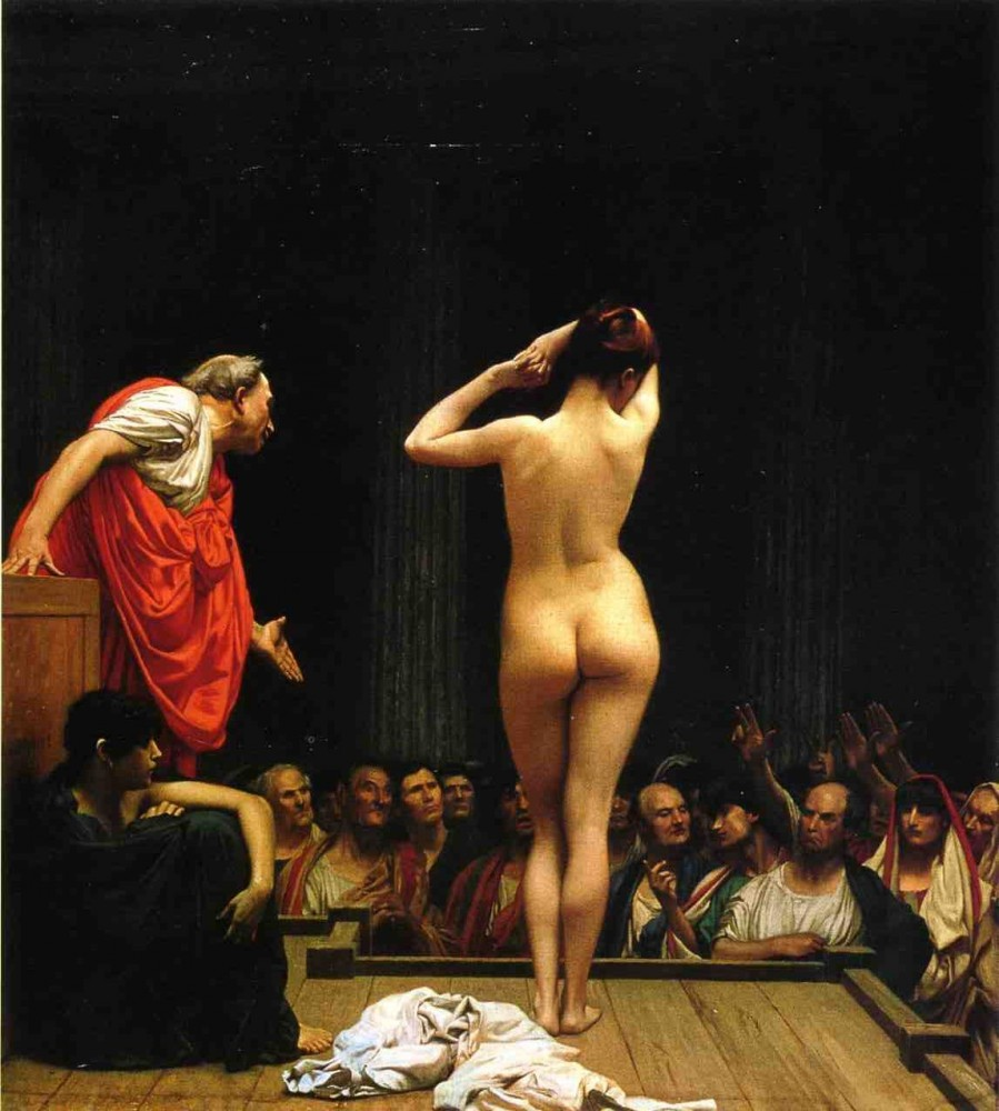 Selling Slaves in Rome by Jean-Léon Gérôme