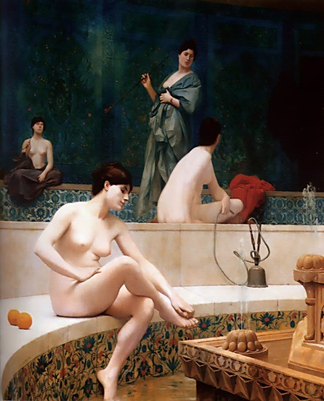 The Harem Bath by Jean-Léon Gérôme
